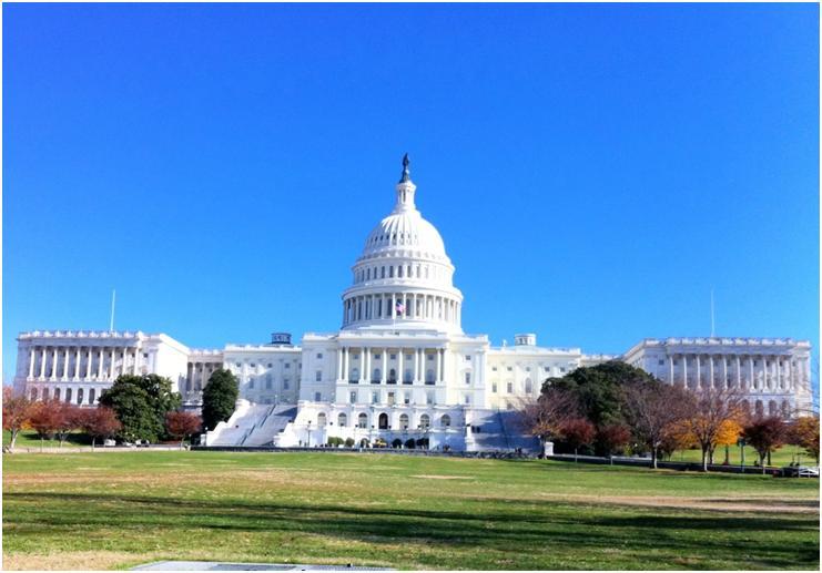 ナショナル・モールから見た米国議会議事堂(写真:筆者)