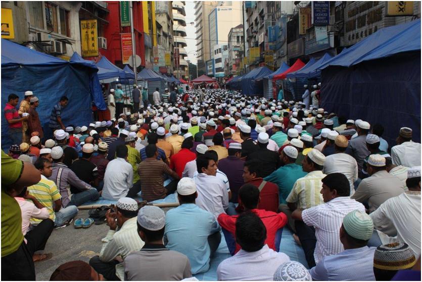 バングラディッシュ人街の風景 (筆者撮影)