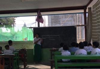 壁のない教室(筆者撮影)