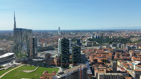 Milan skyline (Photo by the writer)