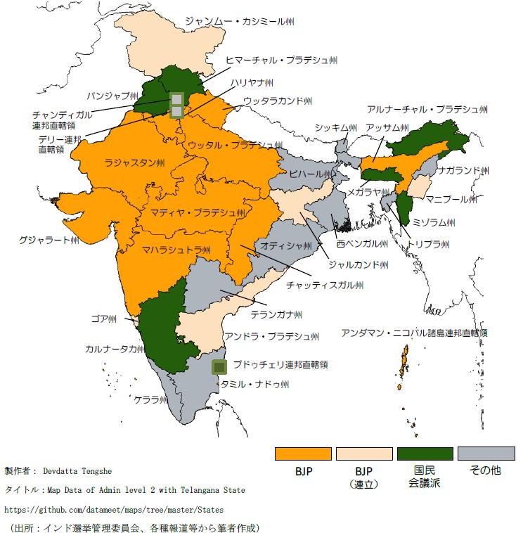 インド:最大州の議会選でモディ首相の与党が圧勝