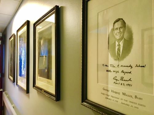1992年、NAFTAに署名したジョージ・H・W・ブッシュ元大統領の直筆(筆者撮影)