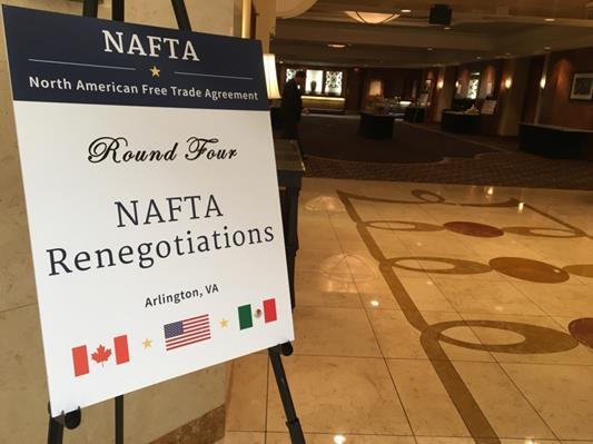 米国が「毒薬条項」を初めて提案したNAFTA第4回交渉会合の会場(筆者撮影)