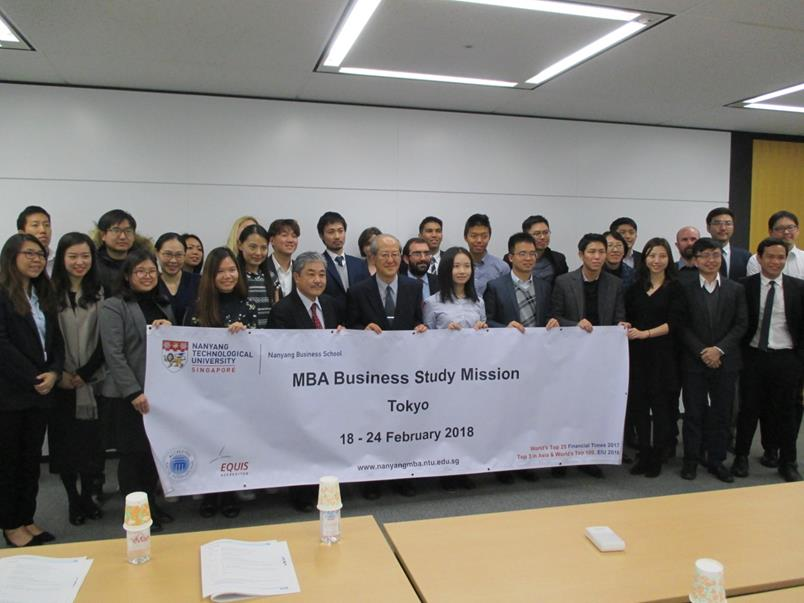 MBA students from Nanyang Technological University