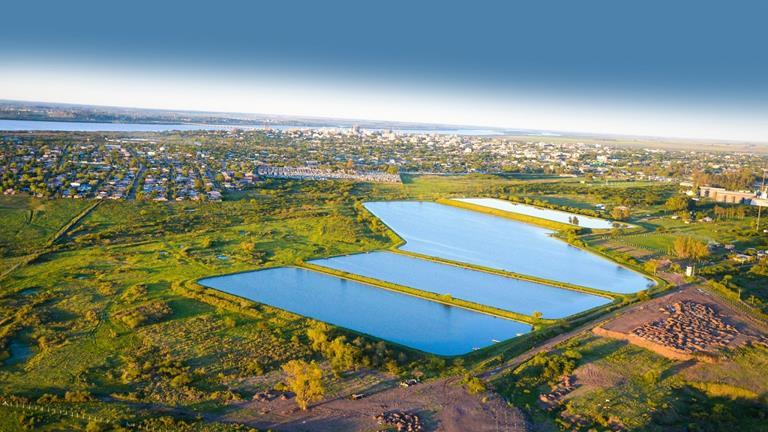 ブラジルにおける水事業/リオグランデ・ド・スル州 下水処理場(©Sumitomo Corporation)