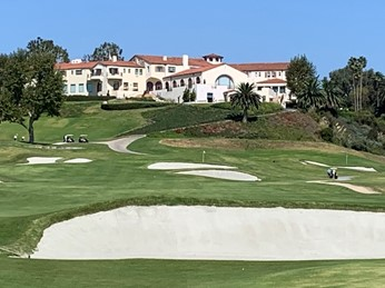 PGAツアーが開催されるリビエラ・カントリー・クラブ(Riviera Country Club)の外観(筆者撮影)