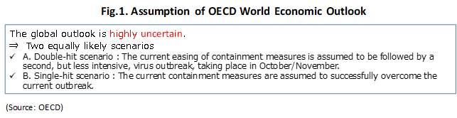 World Trend Change suggested by OECD World Economic Outlook