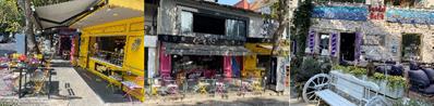 イエニキョイの町に立ち並ぶカラフルなレストランやカフェ(撮影:辻綾子)
